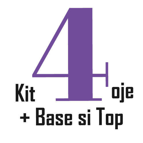 Kit 4 oje cu Base si Top Gratis
